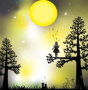 月に歌う□